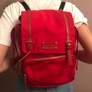 Kate Spade red nylon backpack